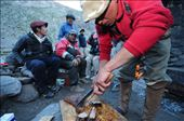 Arrieros feast on a meal of steaks and grilled meat: by aconcagua, Views[22]