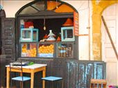 Moroccan food is one of the world's most famously delicious cuisines & served in earthenware tagines. Make a point of ordering fresh hand pressed orange juice for only MDH5 per glass, a welcome treat in the heat.: by algrange, Views[218]