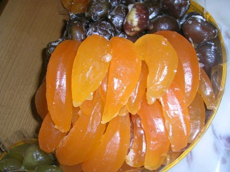 funny fruit. funny looking candied fruit