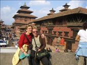 Kirsten & I in the village of Patan - close to Kathmandu: by annanderson, Views[932]
