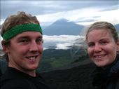 Volcan Agua from Volcan Pacaya, sorry about the attire, it got a bit sweaty.: by ash-clarey, Views[120]