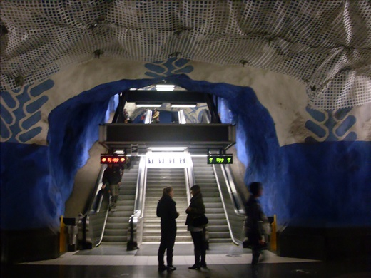 Subway's stops look like caves.