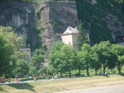 House Built Into The Mountain Salzburg Austria: house built into mountain