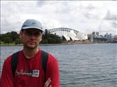 Woohoo, our first photo opportunity of the Sydney Opera House. I'm so happy, I could scowl.: by candjmcshane, Views[129]