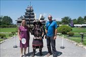 With a Samurai outside Matsumoto Castle: by clare-tamea, Views[37]