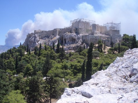 Poseidon Is Still Pissed With Athens A Forest Fire In The