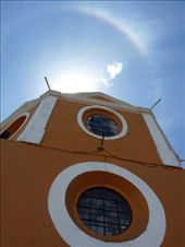 A sun dog above the Sanctuary of the Virgin of Remedies in Cholula: by crazysexyfuntraveler, Views[181]