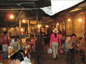An alley full of food vendors.  The night market, Luang Prabang, Laos: by crikeyitsmikey, Views[47]