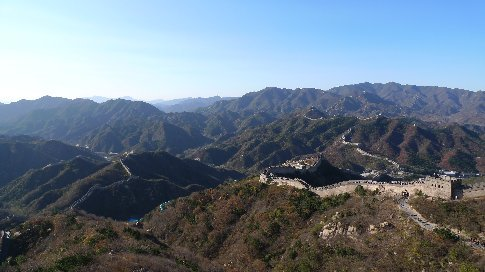 ab hier peking -> chinesische mauer (the great wall)