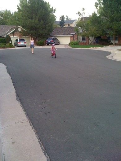 Laura learned how to ride her bike!