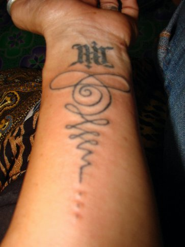 With bamboo tattoos they do not go as far into the skin so you do not bleed