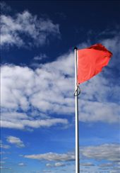 Red flags marked the English line, blue the Scots: by drmitch, Views[67]