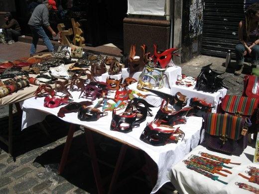 San Telmo street market. I love masks.