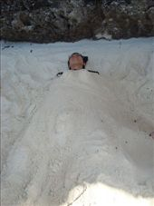 Nic fell asleep (surprise!) so we decided to bury him in sand...: by ellen, Views[78]