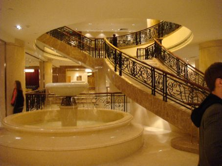 Fanciest Hotel In The World Of Entry Staircase In Lobby At Party World It Looked Like A