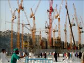Saudi Arabia's dependence on cheap foreign labour means that The Makkah Development Plan, at a cost of 26.6bn, is being constructed by the thousands of men hailing from South Asia.  Construction tends to break in the daytime due to the intense Arabian heat. : by fatemanak, Views[219]