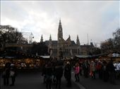 Rathaus and the largest Christmas market in Austria!!!  Rathaus is City Hall (even though it looks like a church): by firegrl, Views[61]