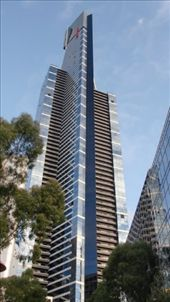Eureka Tower, all 91 floors. Floors 82 to 87 featured one suite on each, and sold for $7 million (plus furnishings & fixtures) when it opened in 2006. This place reminds me of the Top of the Reactor building from SCTV (check YouTube).: by flyted, Views[115]