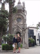 Jen and I posing in front of a pretty grave/tomb in Recoleta Cemetery... kind of morbid.  Recoleta Cemetary.  Buenos Aires, Argentina.: by forgettable_blue, Views[101]