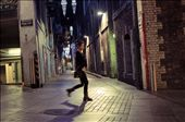 A woman walks through the safe but unsettling city streets after another day's work.: by garciallauro, Views[52]