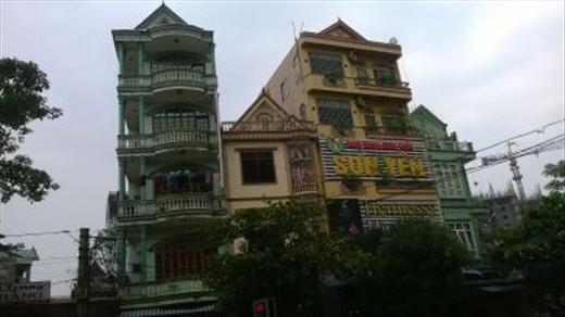 Nice Apartment Building Vinh City Vietnam