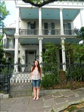 Me, outside of Anne Rice's house in the Garden district of New Orleans. : by hana212, Views[184]