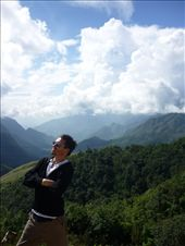 Pulling a Napolean pose in front of the impressive view from Tam Toc pass: by homeless_harry, Views[172]