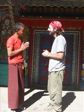 We visited the gompa (temple) and monastery in Dzong -- also once in restricted part of restricted Upper Mustang. We were toured around and quickly befriended by young Lama Karma.: by ivan_miral, Views[105]