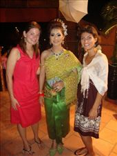Mi poses with Lyndsay, an American TGC volunteer and the bride, donning her 7th? stunning traditional dress of the evening - each a new color!: by ivan_miral, Views[219]