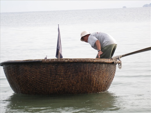 The finely woven bamboo coracle, driven forward by an oar and the power of one man.. determination and much practice produces many rewards always. Keep your eyes on the horizon  and never loose sight of your goals and hopes. See the beauty in all things.. big and small.