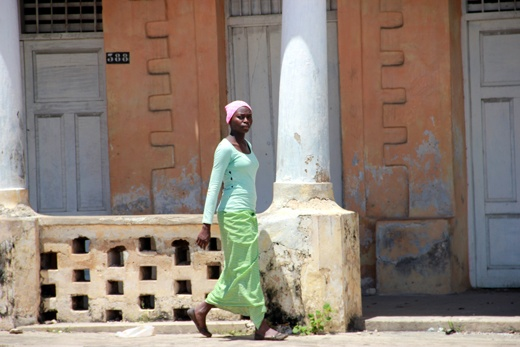 Pemba. Pastel colors in the old town.