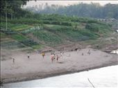 kids playing football on the banks of the Nam Khan river: by justine, Views[271]