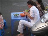 Streetside elegance with bowl of pho, Saigon: by justine, Views[371]