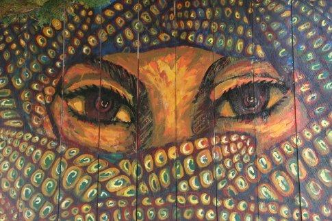 Murales zapatistas en oventic mexico chiapas mexico for Mural zapatista