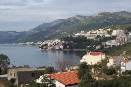the Croatian coast just north of Dubrovnik