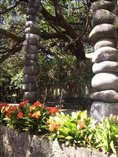 By Albert Park - stone sculpture framing the enterance