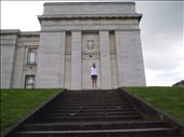 Me standing at the top of stairs in front of the Auckland Museum in the Auckland Domain. Ellie and I hiked it from Parnell to the Domain to check out the view from the hill. (Museum was closed so I'll have to go back): by kiwi_kerry, Views[149]