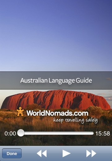 A screenshot from our Australian language guide