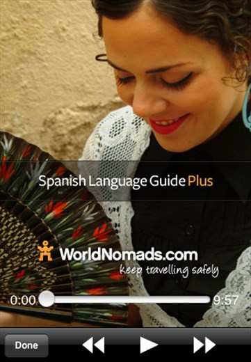 The World Nomads Spanish Language Guide PLUS is now available from the Apple iTunes store.