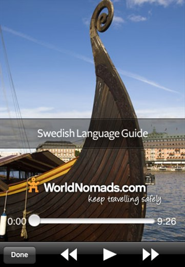 A screenshot from our Swedish language guide