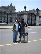 Me with the riot police in Lima: by les, Views[117]