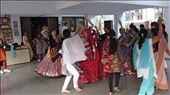 Dancing the Garba with our friends at SEWA (photo: Alan Mattes)