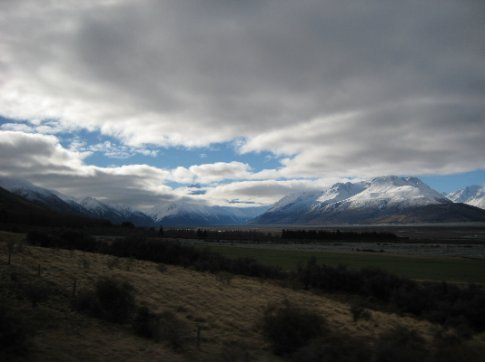 My one and only glimpse of Mount Cook on the way back to Lake Tekapo