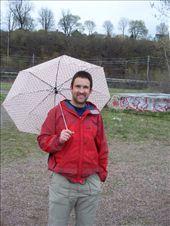 Aidan enjoying a bit of time under Melissa's umbrella.  : by melissa, Views[121]