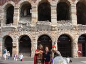 Em with a couple of Gladiators outside the ampitheatre in Verona. : by milko_rosie, Views[94]