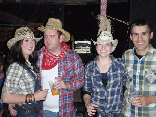 Barn Dance 2011: Eva, Shane, with Emma and I. Good fun.