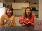 Happy 30th birthday Em - Christine with Em as she gets into her presents.: by milko_rosie, Views[64]