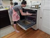 Placing the pie into the oven for baking.: by missmantakay, Views[13]