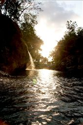 sunset panorama in the end of Oyo river tubing: by monica-indriani, Views[1049]