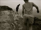 We explore a cliff near the ocean, barefoot.: by mostlycogent, Views[66]